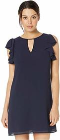Vince Camuto Chiffon Float with Ruffle at Armhole