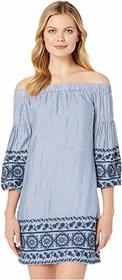 Vince Camuto Cotton Off the Shoulder Dress with Lo