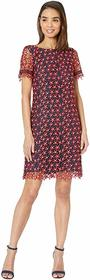Tahari by ASL Short Sleeve Lace Floral Dress