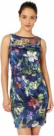 Tahari by ASL Petite Sleeveless Embroidered Mesh D