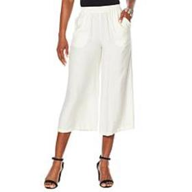 WynneLayers Malibu Stripe Wide-Leg Pant with Pocke