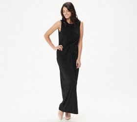 BROOKE SHIELDS Timeless Petite Sleeveless Maxi Dre