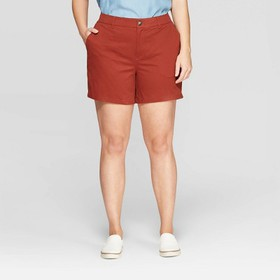 "Women's Plus Size 5"" Chino Shorts with Comfort Wai"