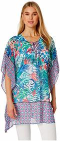 Tommy Bahama Palm Party Lace-Up Tunic