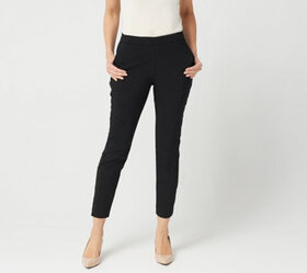 """As Is"" Susan Graver Petite Ultra Stretch Pants wi"