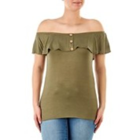 SAY ANYTHING Junior Off the Shoulder Flounce Top w