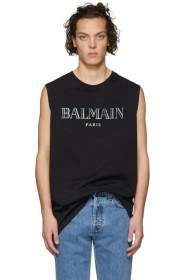 Balmain Black Logo Muscle T-Shirt