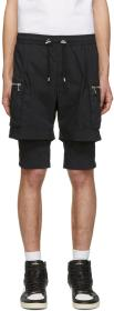 Balmain Navy Double Layer Shorts