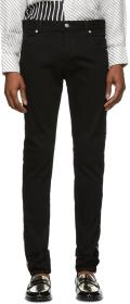 Balmain Black Slim Fit Logo Jeans