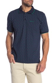Ben Sherman Arrow Patterned Pique Polo Shirt