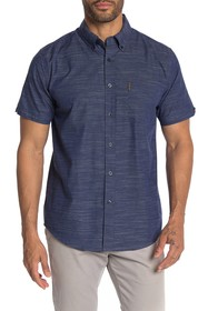 Ben Sherman Horizontal Slub Short Sleeve Shirt