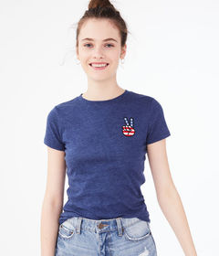 Aeropostale Peace Sign Graphic Tee