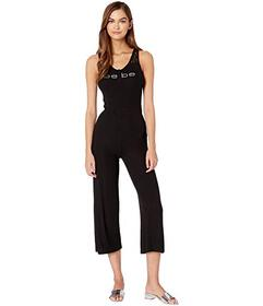 Bebe Logo Lace Detail Jumpsuit