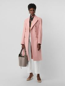 Burberry Double-breasted Wool Tailored Coat in Apr