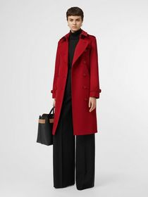 Burberry Cashmere Trench Coat in Red