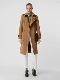 Burberry Cashmere Trench Coat in Mid Camel