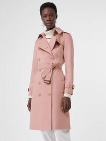 Burberry Cashmere Trench Coat in Chalk Pink
