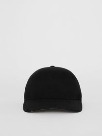 Burberry Felted Wool Baseball Cap in Black