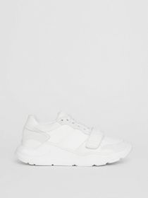 Burberry Suede, Neoprene and Leather Sneakers in O