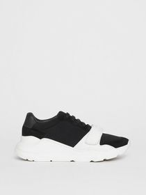 Burberry Suede, Neoprene and Leather Sneakers in B