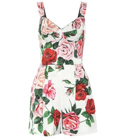 Dolce & Gabbana Printed floral playsuit