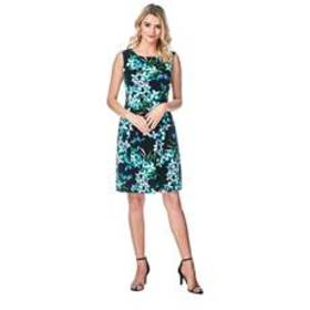 Petite Connected Apparel Sleeveless Floral Sheath