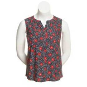 Petite Napa Valley Sleeveless Floral & Dot Piped S