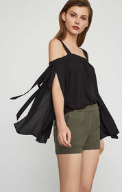 BCBG Jorden Cold-Shoulder Top