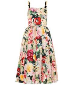 Dolce & Gabbana Floral silk dress