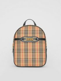 Burberry The 1983 Check Link Backpack in Black