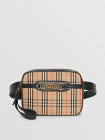 Burberry The 1983 Check Link Bum Bag with Leather