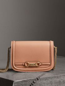 Burberry The Leather Link Bag in Peach