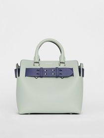 Burberry The Small Leather Belt Bag in Grey Blue
