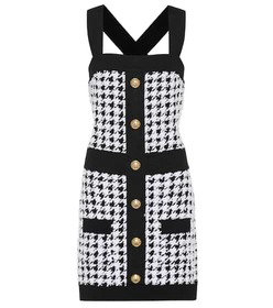 Balmain Houndstooth knit minidress