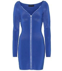 David Koma Embellished zip-front minidress