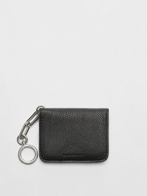 Burberry Link Detail Leather ID Card Case Charm in