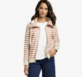 Johnston Murphy Striped Knit Zip-Front Jacket