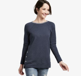 Johnston Murphy Side-Snap Double-Knit Pullover