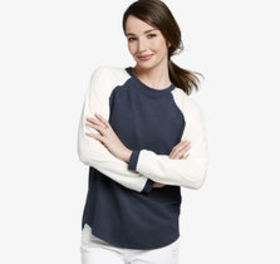 Johnston Murphy Colorblock Raglan-Sleeve Top