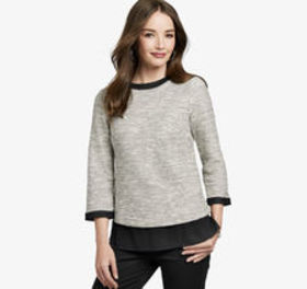 Johnston Murphy Layered-Hem Slub-Knit Pullover