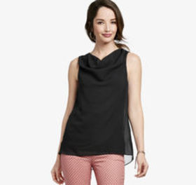 Johnston Murphy Draped-Neck Sleeveless Top