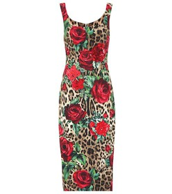 Dolce & Gabbana Embellished printed midi dress