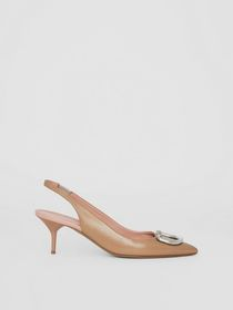 Burberry The Leather D-ring Slingback Pump in Nude