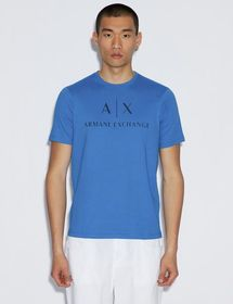 Armani T-SHIRT WITH CONTRAST LETTERING AND LOGO