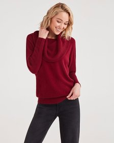 7 For All Mankind Pullover Sweater in Burgundy