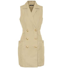 Balmain Cotton and linen minidress