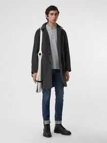 Burberry Quilt-lined Nylon Car Coat in Dark Charco
