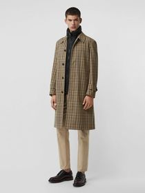 Burberry Check Car Coat with Detachable Gilet in D