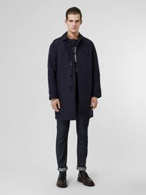 Burberry Bonded Car Coat with Warmer in Navy