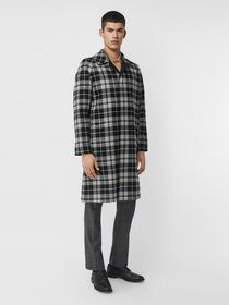 Burberry Reversible Wool Cashmere and Cotton Car C